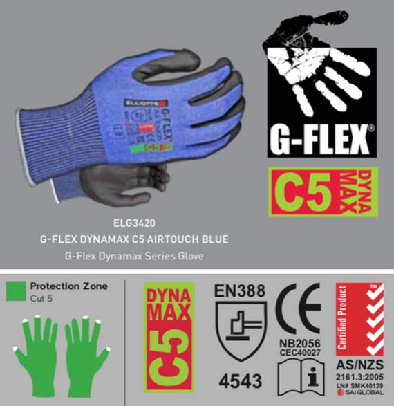 G-Flex Dynamax Cut Resistance Gloves