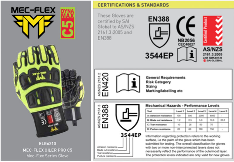 Mec-Flex Cut Resistance Gloves