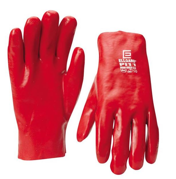 Picture of Red PVC Glove - Short