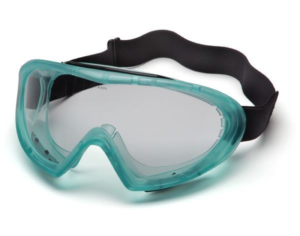 Picture of Pyramex Capstone Chemical Goggle 500 Series - Clear Lens with Neoprene Strap.