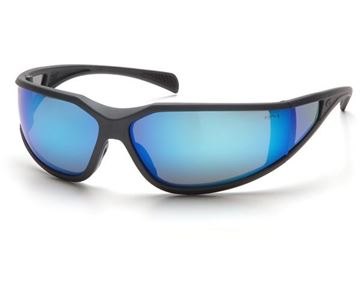 Picture of Pyramex Exeter - Ice Blue Mirror Lens with Charcoal Grey Frame and H2X Anti-Fog Technology