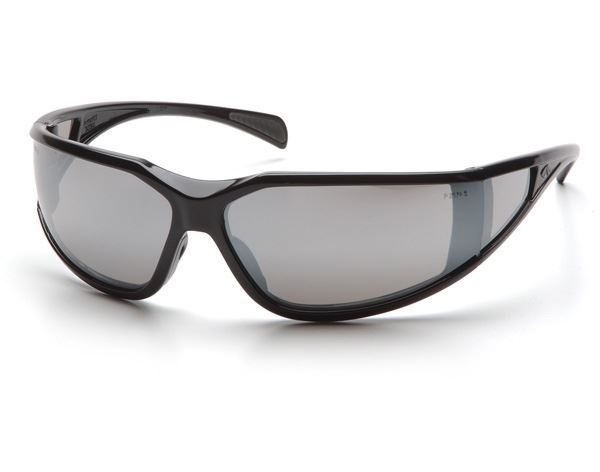 Picture of Pyramex Exeter - Silver Mirror Lens with Black Frame and H2X Anti-Fog Technology