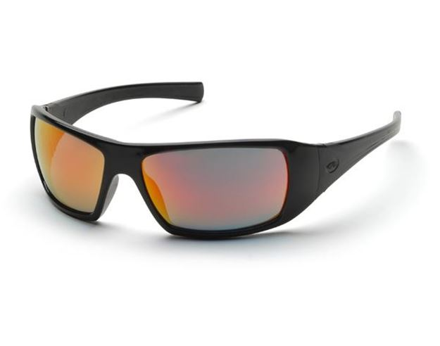 Picture of Pyramex Goliath - Sky Red Mirror Lens with Black Frame