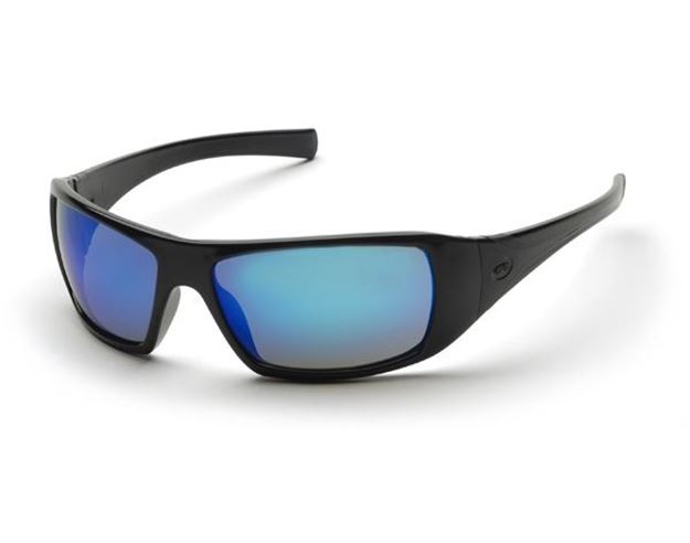 Picture of Pyramex Goliath - Ice Blue Mirror Lens with Black Frame