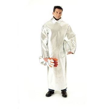Picture of Aluminised Kevlar Smock - Closed Back Lined - Furnace Clothing