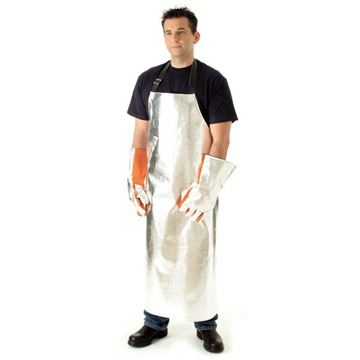 Picture of Aluminised Preox Apron - 1219m X 915mm Lined