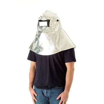 Picture of Aluminised Preox Hood with Welding Helmet