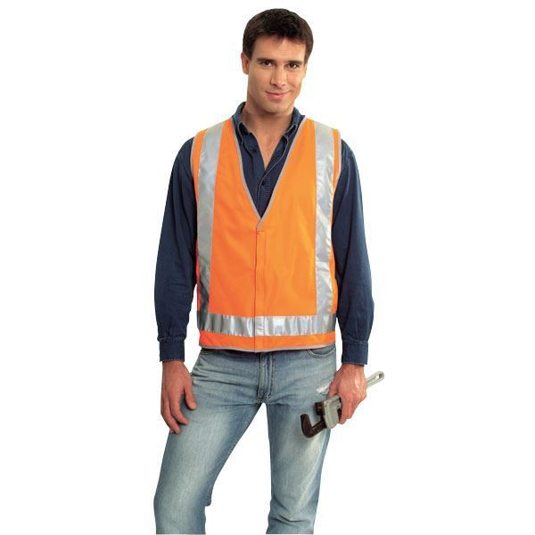 Picture of Safety Vest - Fluoro Orange Ref Trim Style 2 Class D/N