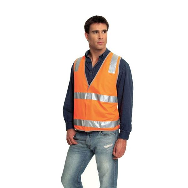 Picture of Safety Vest - Fluoro Orange Ref Trim Style 3 Class D/N
