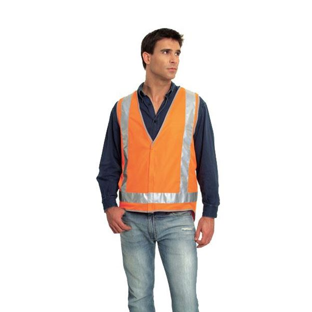 Picture of Safety Vest - Fluoro Orange Ref Trim Style 8 Class D/N