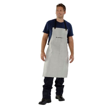 Picture of Blue Max A2-LS Chrome Leather Bib Style Apron with Leather Straps