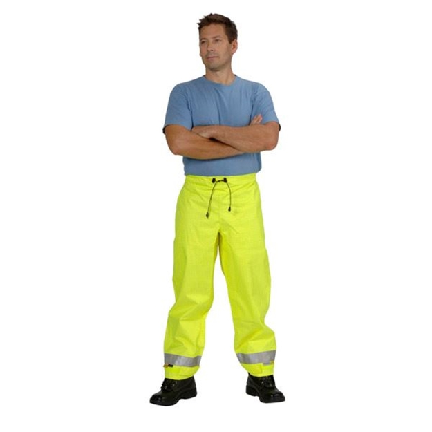 Picture of Zetel ZX FRAS Wet Weather Trousers Z49 - Fluoro Yellow with Reflective Trim