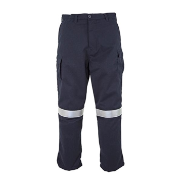 Picture of Tecasafe plus 7.0 oz Fire Retardant Work Trousers (Women's) - Navy Blue with Reflective Tape
