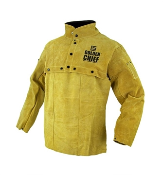 Golden Chief Leather Bolero Welding Jacket with Apron