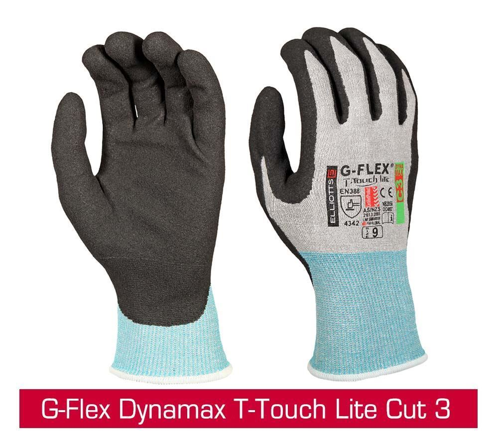 Picture of New G-Flex Dynamax AirTouch Cut 5 and T-Touch Lite Cut 3 Gloves