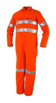 Picture of Tecasafe FR Coverall 5.8oz - Orange with Reflective Tape