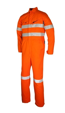 Picture of Tecasafe plus  7.0 oz FR Coverall - Orange with Reflective Trim