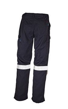 Picture of Tecasafe plus 7.0 oz Fire Retardant Work Trousers  - Navy Blue with Reflective Tape