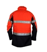Picture of Zetel ArcSafe Z59 Wet Weather Jacket - Orange/Navy with Reflective Trim