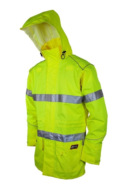 Picture of Zetel XT Wet Weather Jacket Z59 - Fluoro Yellow with Reflective Trim