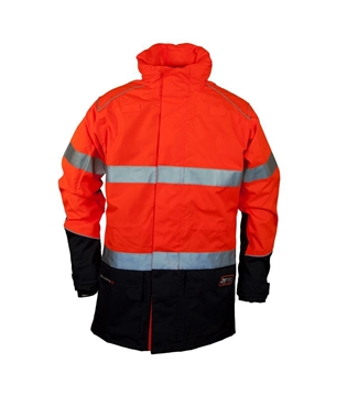 Picture of Zetel XT Z59 Wet Weather Jacket - Fluoro Orange/Navy with Reflective Trim
