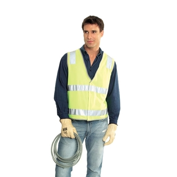 Picture of Safety Vest - Fluoro Yellow | Ref Trim Style 3 | Class D/N