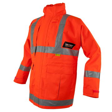 Picture of CHEM-TECH  FRAS Jacket with Reflective Trim - Chemical Splash