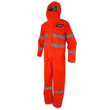 Picture of CHEM-TECH Coverall with Ref Trim (Full Face Mask Hood) -  Chemical Splash