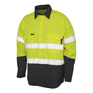 Picture of Tecasafe Plus Men's FR Classic Shirt - Fluoro Yellow/Navy