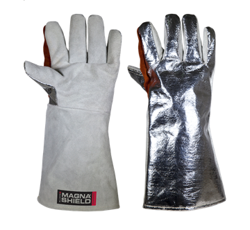 Picture of MagnaShield  Aluminised Aramid  Gloves - Chrome Leather Palm