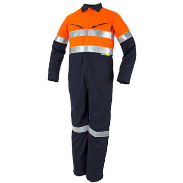 Picture of Tecasafe Plus Classic 5.8oz FR Coverall - Orange/Navy