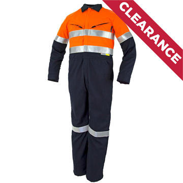 Picture of Tecasafe Plus Ultimate 5.8oz FR Coverall - Orange/Navy