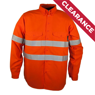 Picture of Tecasafe 5.8oz FR Long Sleeve Shirt - Orange with Silver Reflective Tape