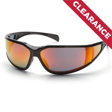 Picture of Pyramex Exeter - Sky Red Mirror Lens with Black Frame and H2X Anti-Fog Technology