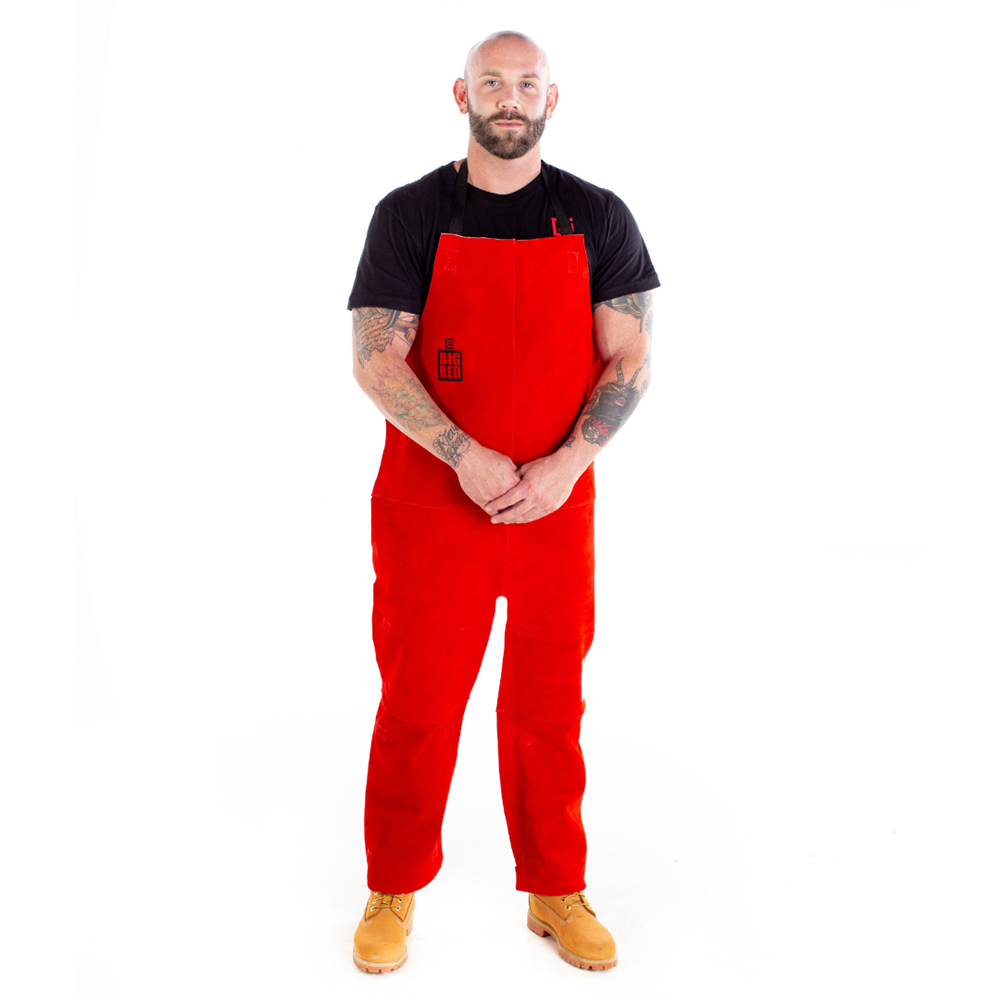 Big Red Welding Chaps with Bib and Apron
