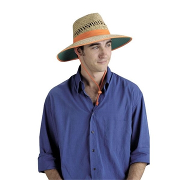 Picture of Straw Hat with Orange Band