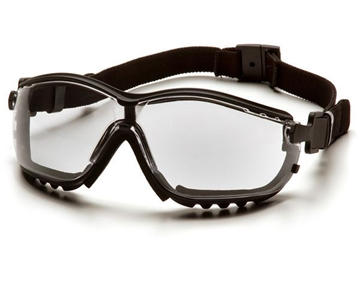 Picture of Pyramex V2G Specialty Glasses / Safety Goggles - Clear Lens with Black Strap/Temples and H2X Anti-Fog Technology