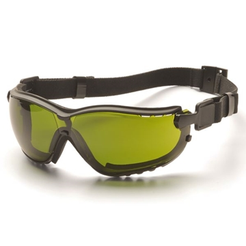 Picture of Pyramex V2G Specialty Glasses / Safety Goggles - Shade 3 Lens with Black Strap/Temples and H2X Anti-Fog Technology