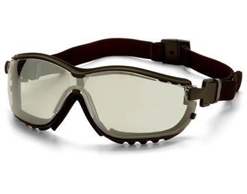 Picture of Pyramex V2G Specialty Glasses / Safety Goggles - I/O Mirror Lens with Black Strap/Temples and H2X Anti-Fog Technology
