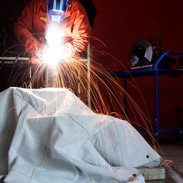 Picture of Chrome Leather Welding Drape