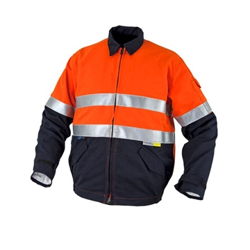 Picture of Tecasafe Plus Internal FR Jacket - Orange/Navy with Reflective Trim