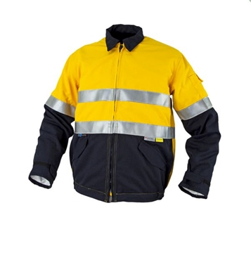 Picture of Tecasafe Plus Internal FR Jacket - Yellow/Navy with Reflective Trim