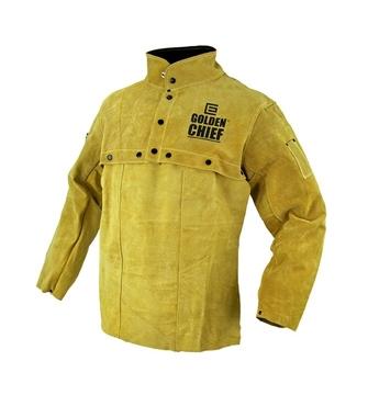 Golden Chief Leather Bolero Welding Jacket with Apron