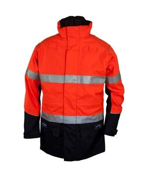 Picture of Zetel ArcSafe Z59 Wet Weather Jacket - Orange/Navy with Reflective Trim