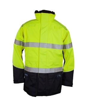 Picture of Zetel ArcSafe Z59 Wet Weather Jacket - Yellow/Navy with Reflective Trim LRG