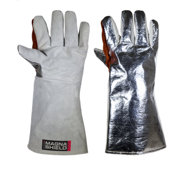 Picture of MagnaShield  Aluminised Preox Gloves - Chrome Leather Palm