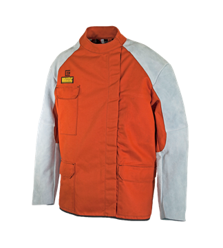 Picture of WAKATAC Quarter Back Style Welding Jacket with Chrome Leather Sleeves