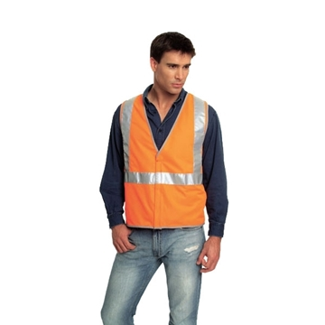 Picture of Safety Vest - Fluoro Orange Trim Style 1 Class D/N