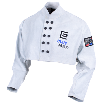 Picture of Blue Max Chrome Leather Bolero (Chest Length) Welding Coat