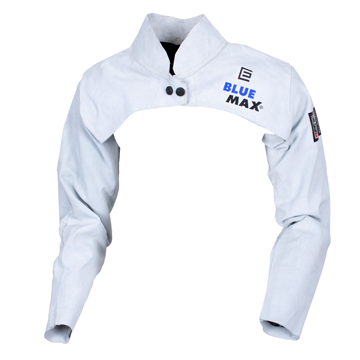 Picture of Blue Max Chrome Leather Welding Sleeves With Yoke